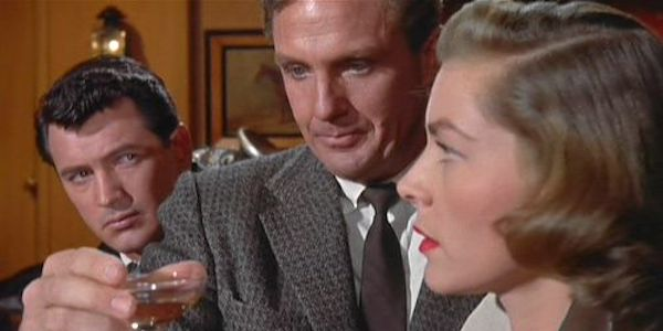 Robert Stack (middle) with Rock Hudson and Lauren Bacall in Douglas Sirk's  Written on the Wind