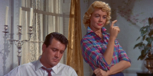 Dorothy Malone (right) and Rock Hudson (left) in Douglas Sirk's  Written on the Wind