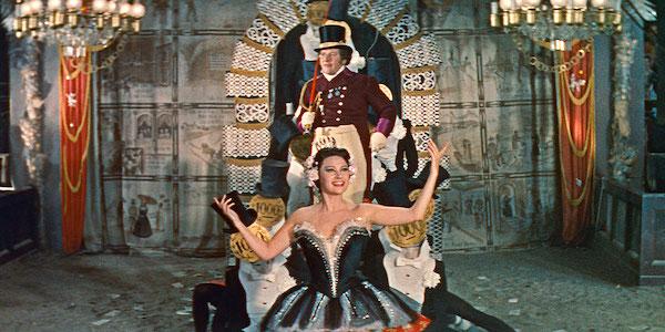 Martine Carol and Peter Ustinov in Max Öphuls'  Lola Montes