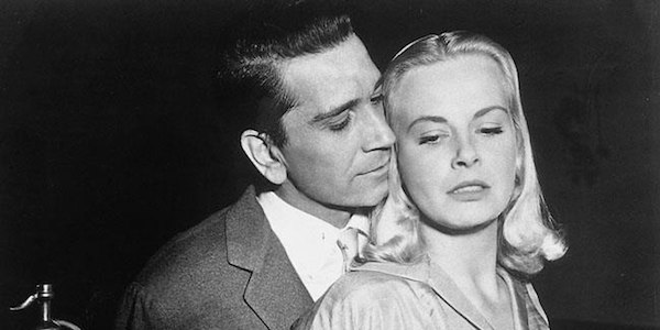 Richard Conte and Jean Wallace in Joseph H. Lewis'  Big Combo