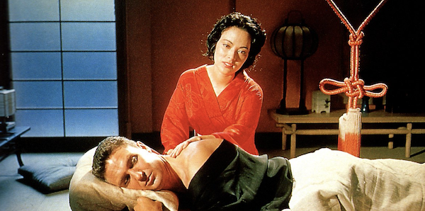 Shirley Yamaguchi and Robert Stack in Samuel Fuller's  House of Bamboo