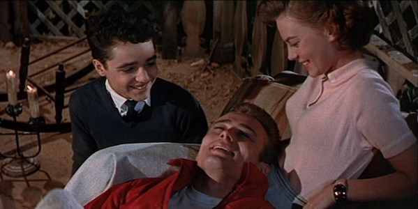 Sal Mineo, James Dean, and Natalie Wood in Nicholas Ray's  Rebel Without a Cause