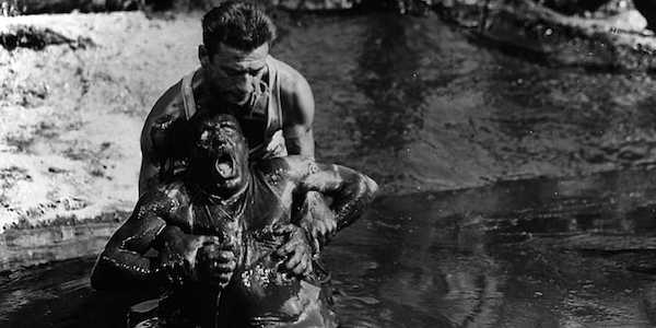 Yves Montand and Charles Vanel in Henri-Georges Clouzot's  Wages of Fear