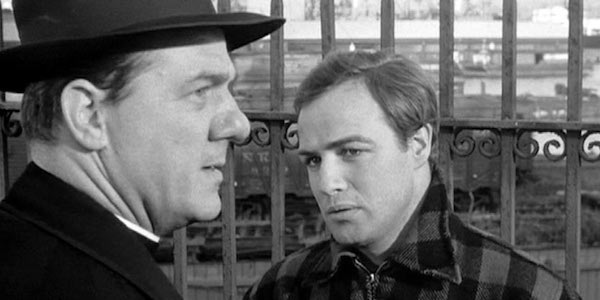 Karl Malden and Marlon Brando in Elia Kazan's  On the Waterfront