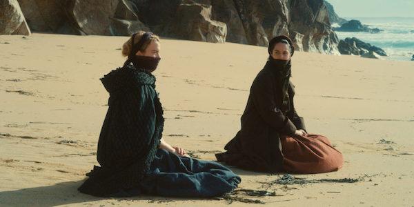 Adèle Haenel and Noémie Merlant in Céline Sciamma's  Portrait of a Lady on Fire