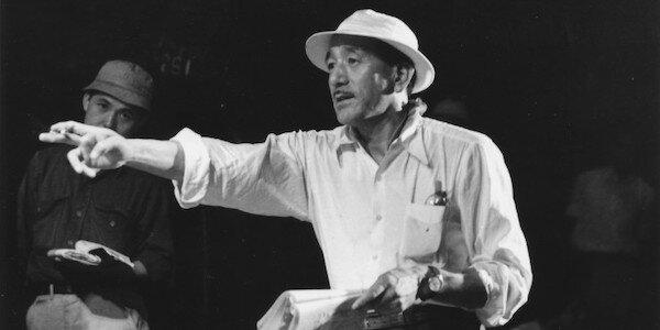 Yasujiro Ozu on the set of  Tokyo Story