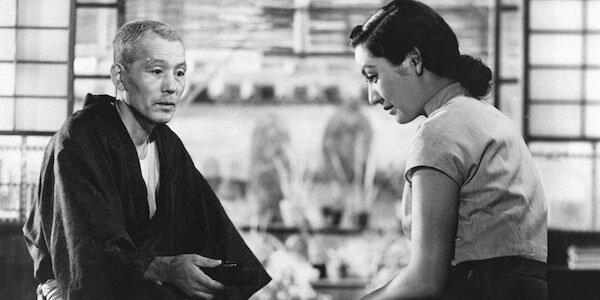 Chishû Ryû and Setsuko Hara in Yasujiro Ozu's  Tokyo Story