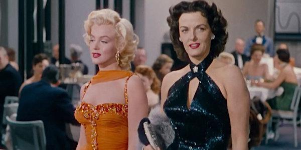 Marilyn Monroe and Jane Russell in Howard Hawks'  Gentlemen Prefer Blondes