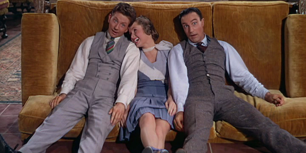 Donald O'Connor, Debbie Reynolds, and Gene Kelly in Stanley Donen and Kelly's  Singin' in the Rain