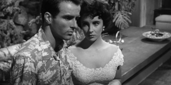 Elizabeth Taylor and Montgomery Clift in George Stevens'  A Place in the Sun