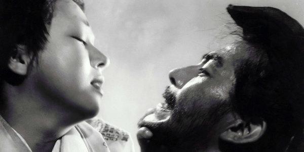 Machiko Kyo and Toshiro Mifune in Akira Kurosawa's  Rashomon