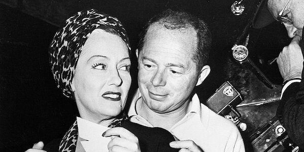Billy Wilder with Gloria Swanson on the set of  Sunset Boulevard