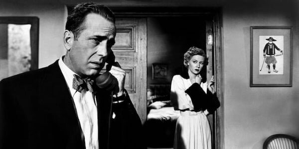 Humphrey Bogart and Gloria Grahame in Nicholas Ray's  In a Lonely Place