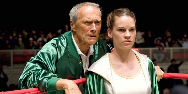 Clint Eastwood and Hilary Swank in Eastwood's  Million Dollar Baby