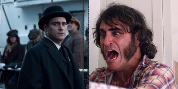 Joaquin Phoenix in James Gray's  The Immigrant  (left) and Paul Thomas Anderson's  Inherent Vice  (right)