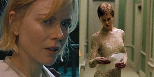 Nicole Kidman in Lars von Trier's  Dogville  (left) and Jonathan Glazer's  Birth  (right)