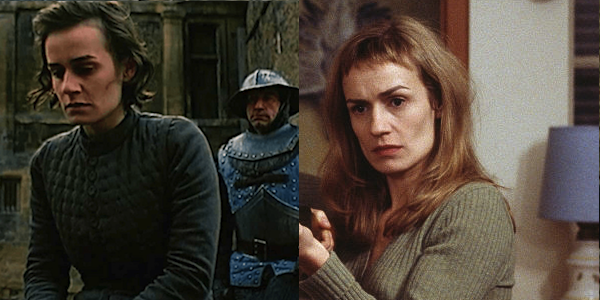 Sandrine Bonnaire in Jacques Rivette's  Joan the Maid  (left) and Claude Chabrol's  La Ceremonie  (right)