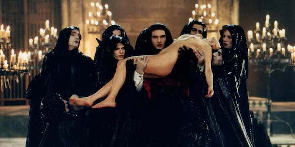 Antonio Banderas (center) holds up Laure Marsac in Neil Jordan's  Interview with the Vampire