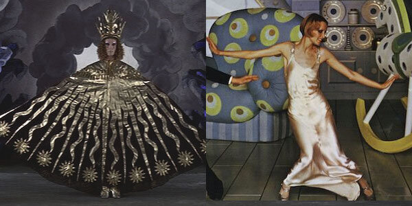 Murray Melvin in Ken Russell's  The Devils   (left)  Twiggy in Ken Russell's  The Boy Friend   (right)