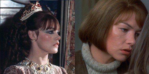 Glenda Jackson in Ken Russell's  The Music Lovers   (left)  and John Schlesinger's  Sunday Bloody Sunday   (right)