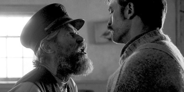 Willem Dafoe and Robert Pattinson in Robert Eggers'  The Lighthouse