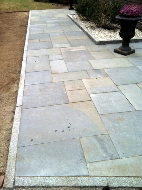 Bluestone walkway and patio with Granite Edging