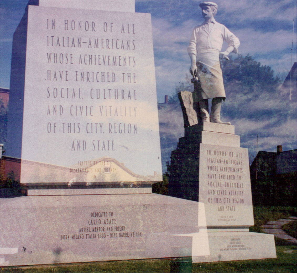 Italian Immigrant Monument  Barre, Vermont