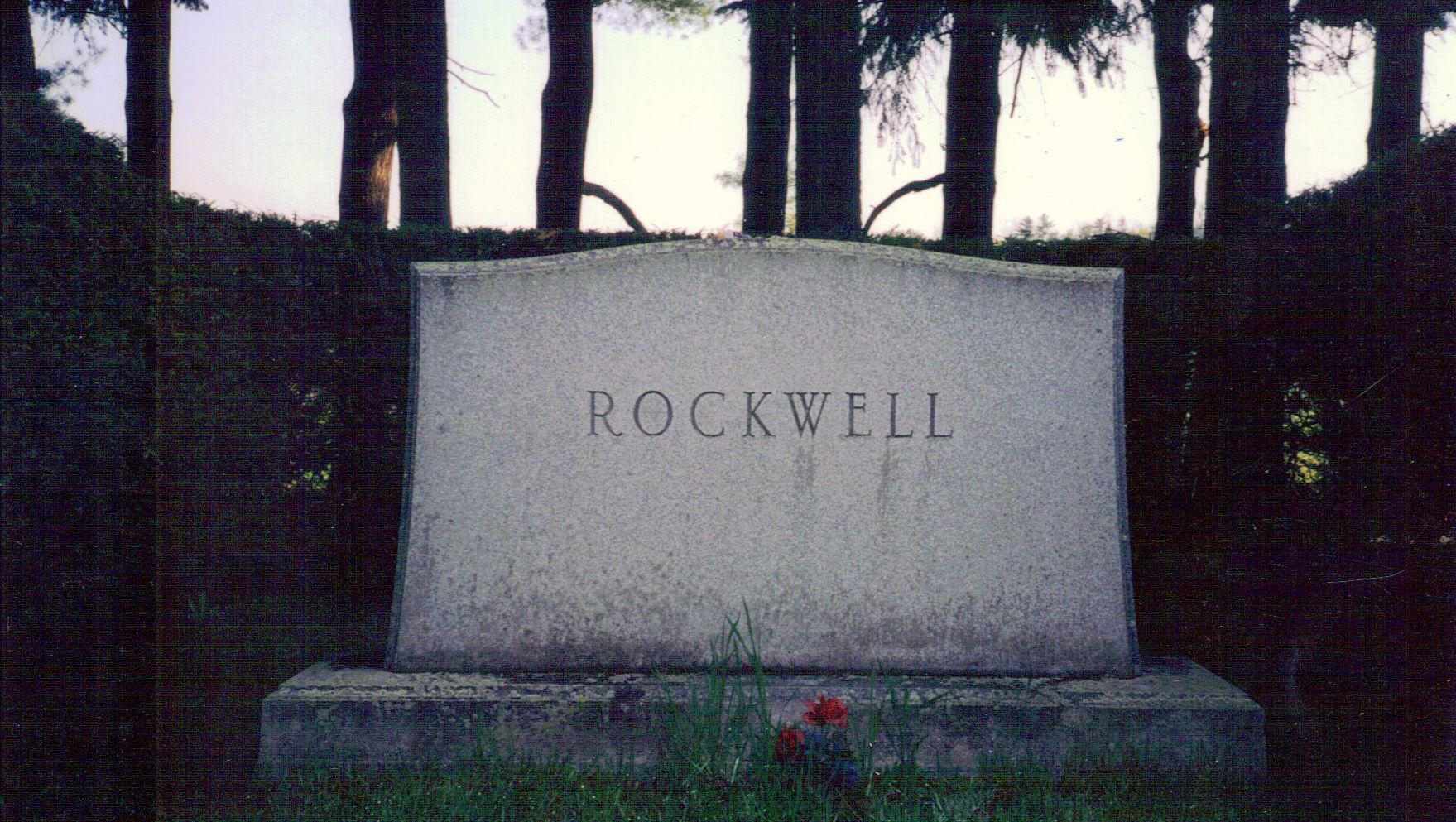 Norman Rockwell Monument  Main St. Cemetery, Stockbridge, Massachusetts