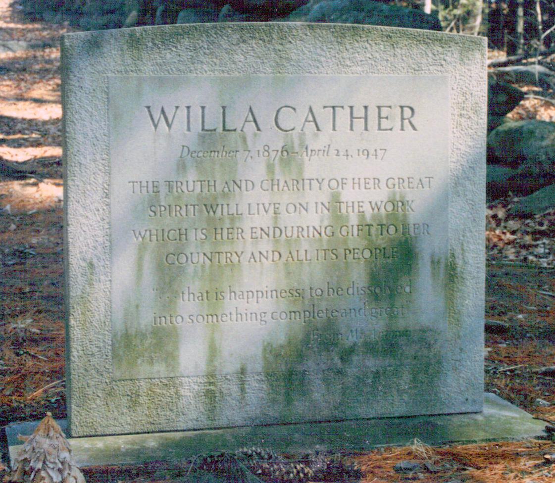 Willa Cather Monument  Old Burying Ground, Jaffery, New Hampshire