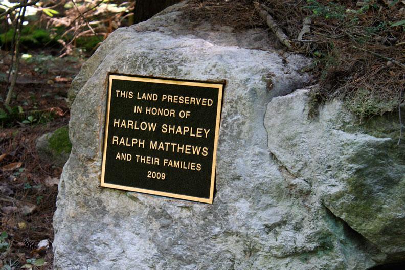 Small Bronze Plaque  set into a boulder