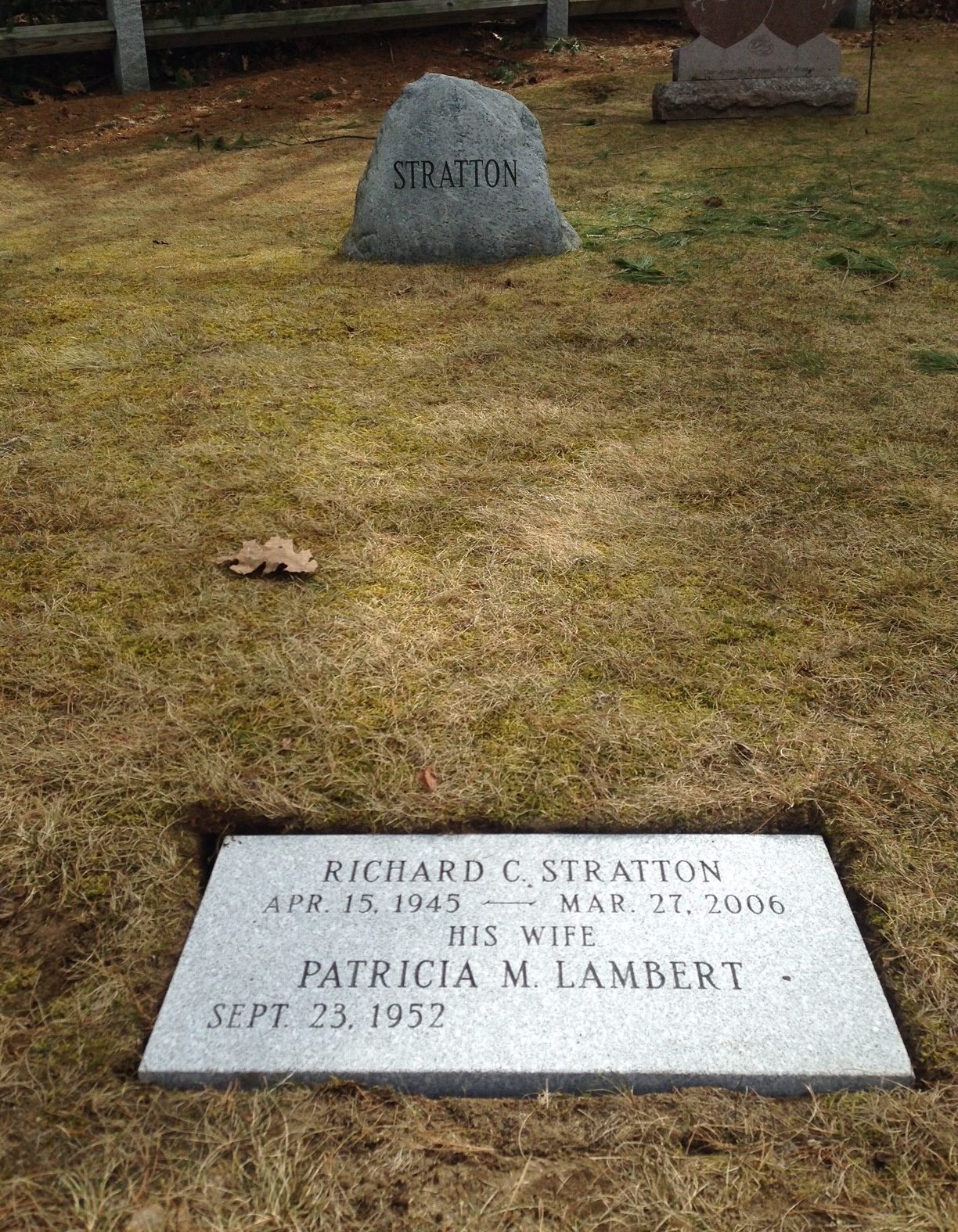 Boulder Memorial with Flush Grass Marker