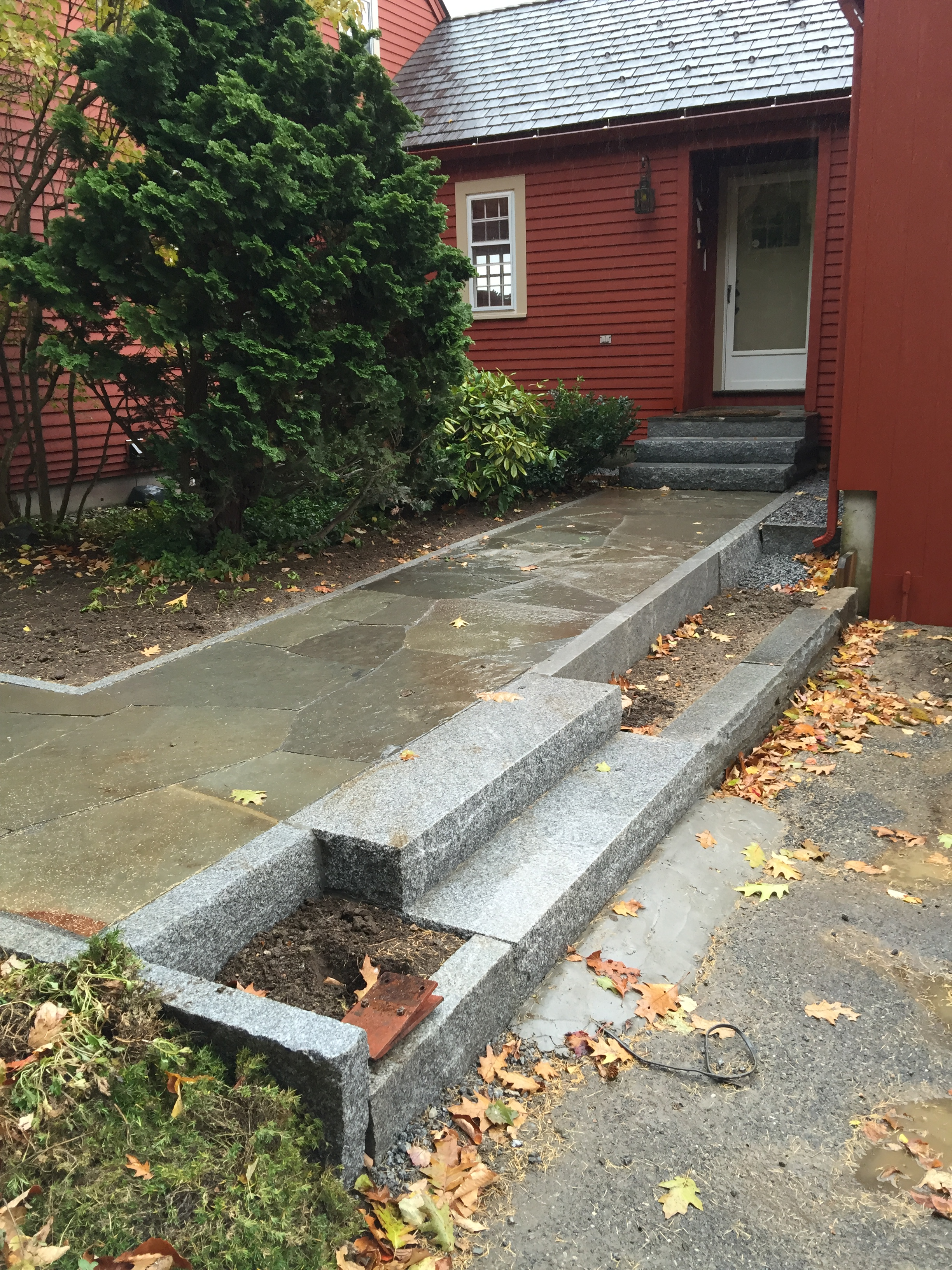 Curbing, Steps and Path to Entry Door