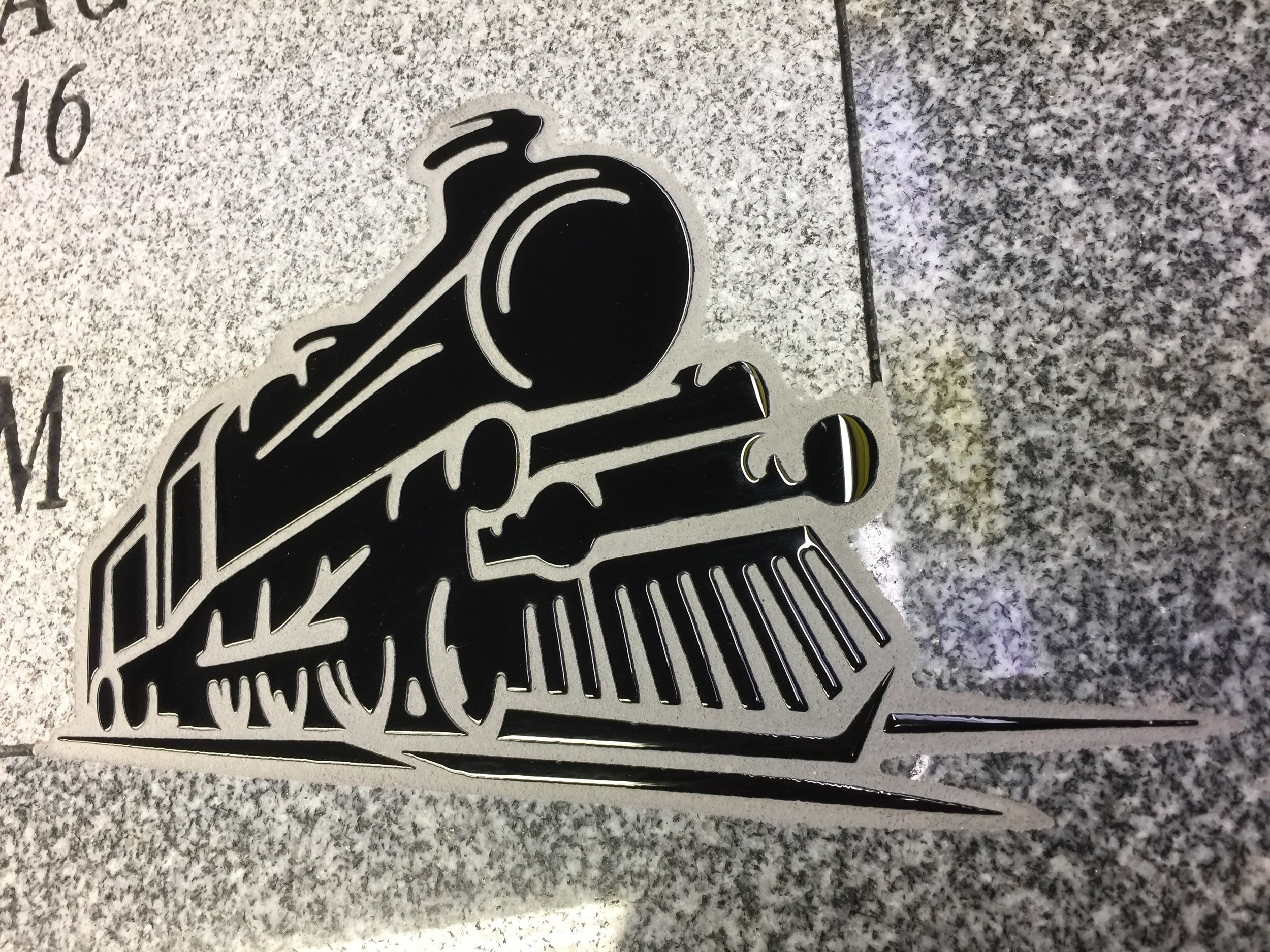 Finished Train Glass Art Design