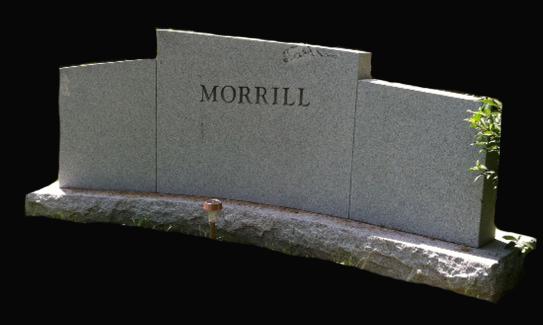 Custom Curve NH Granite Monument