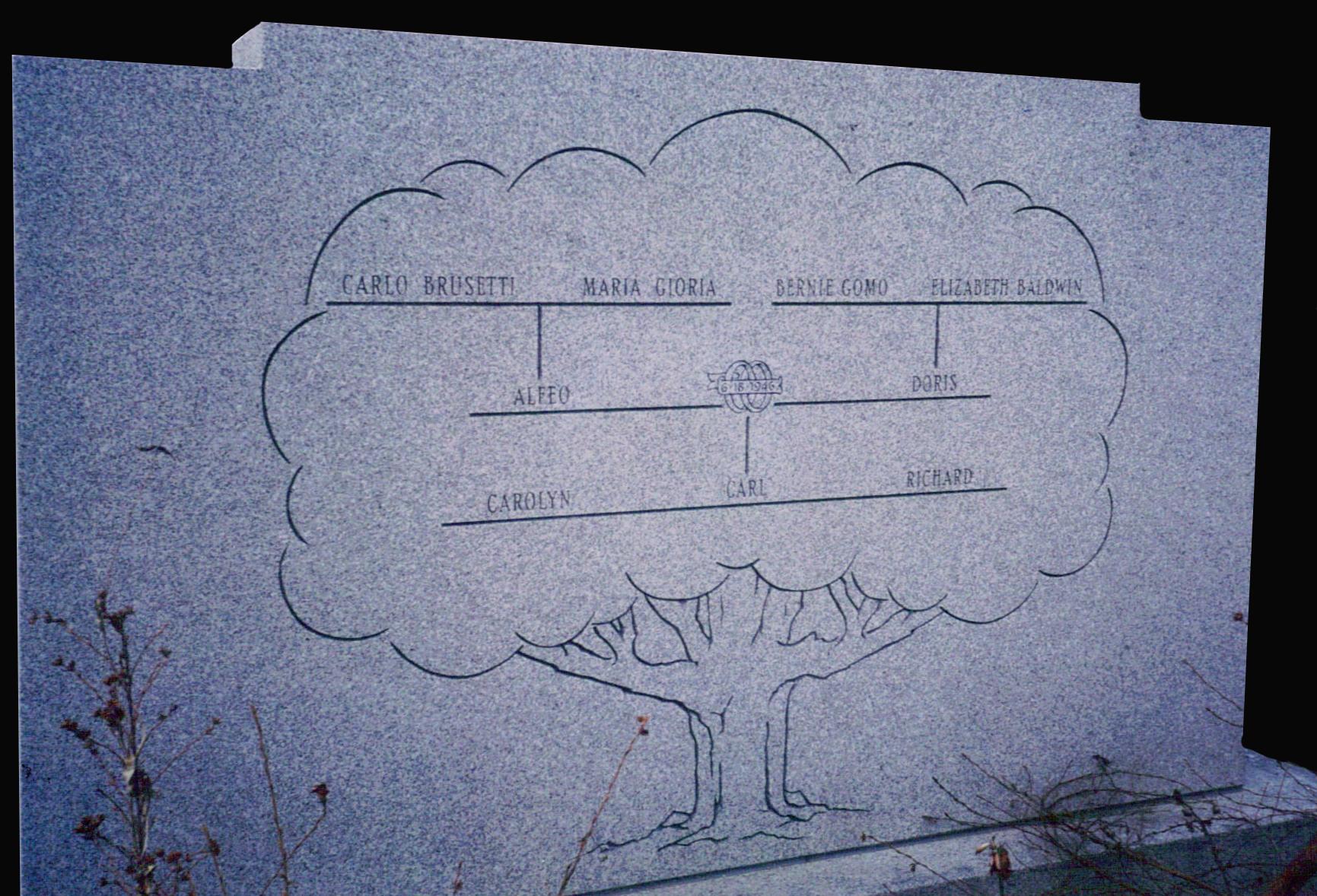Steeled NH Granite Family Tree Engraving