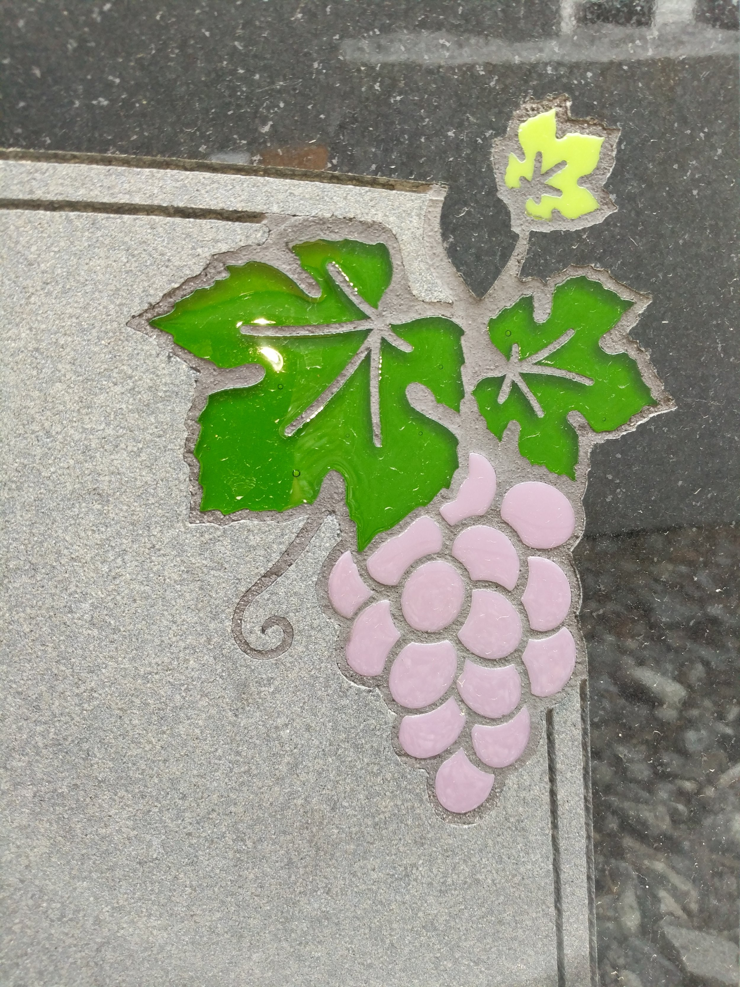Grapes Glass Inlay (Dry)