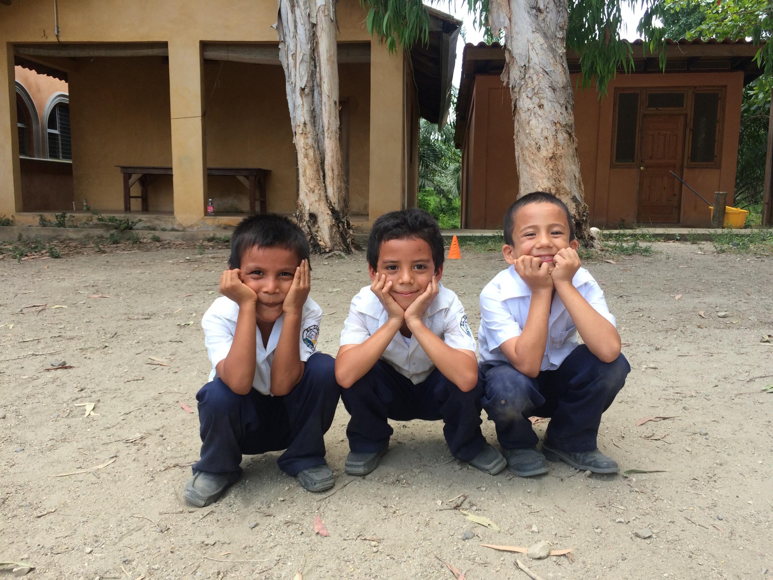 Marvin, Juan, and Ilver at recess.