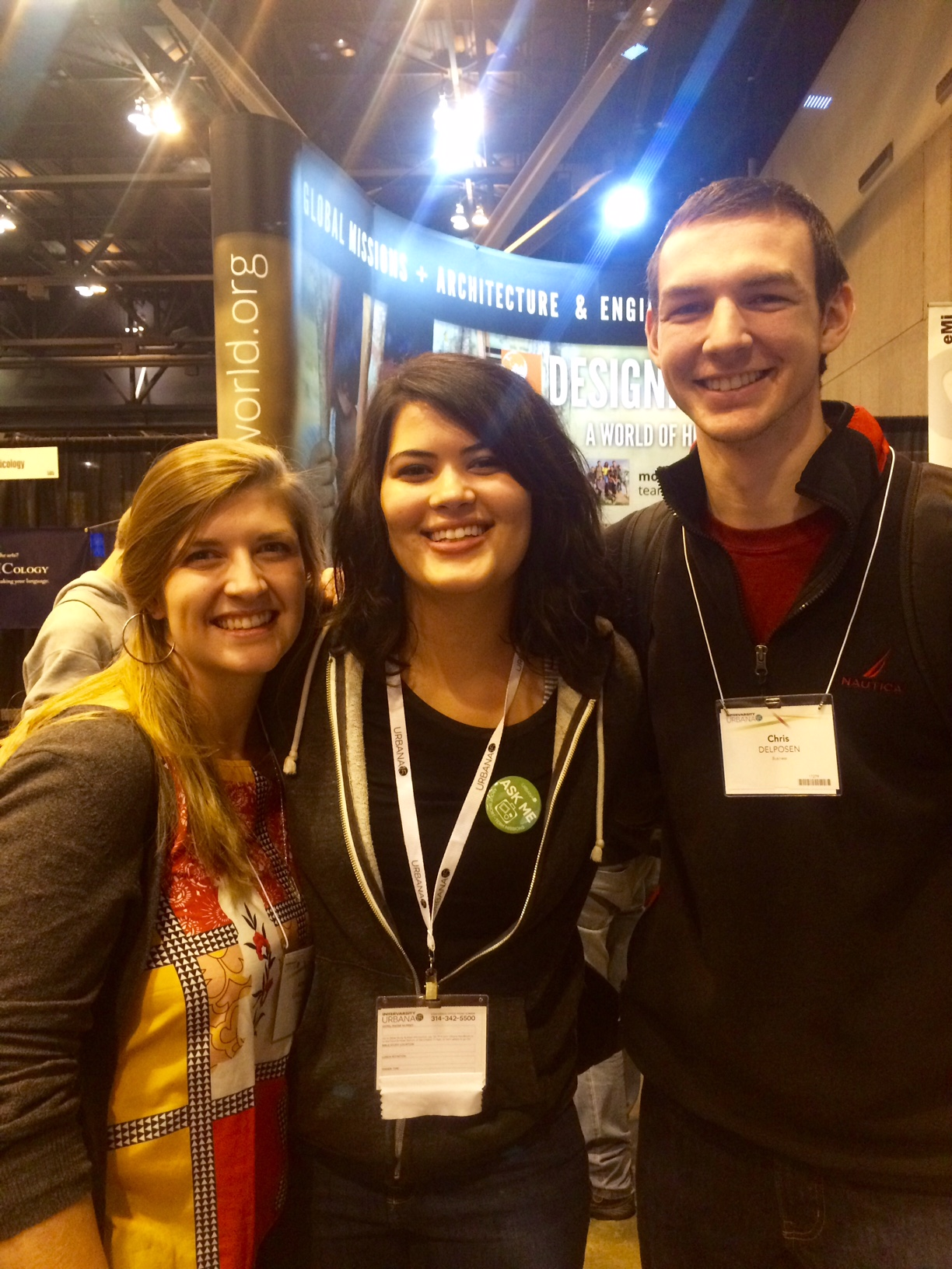 With Amy and Chris at the Cornerstone booth at Urbana.