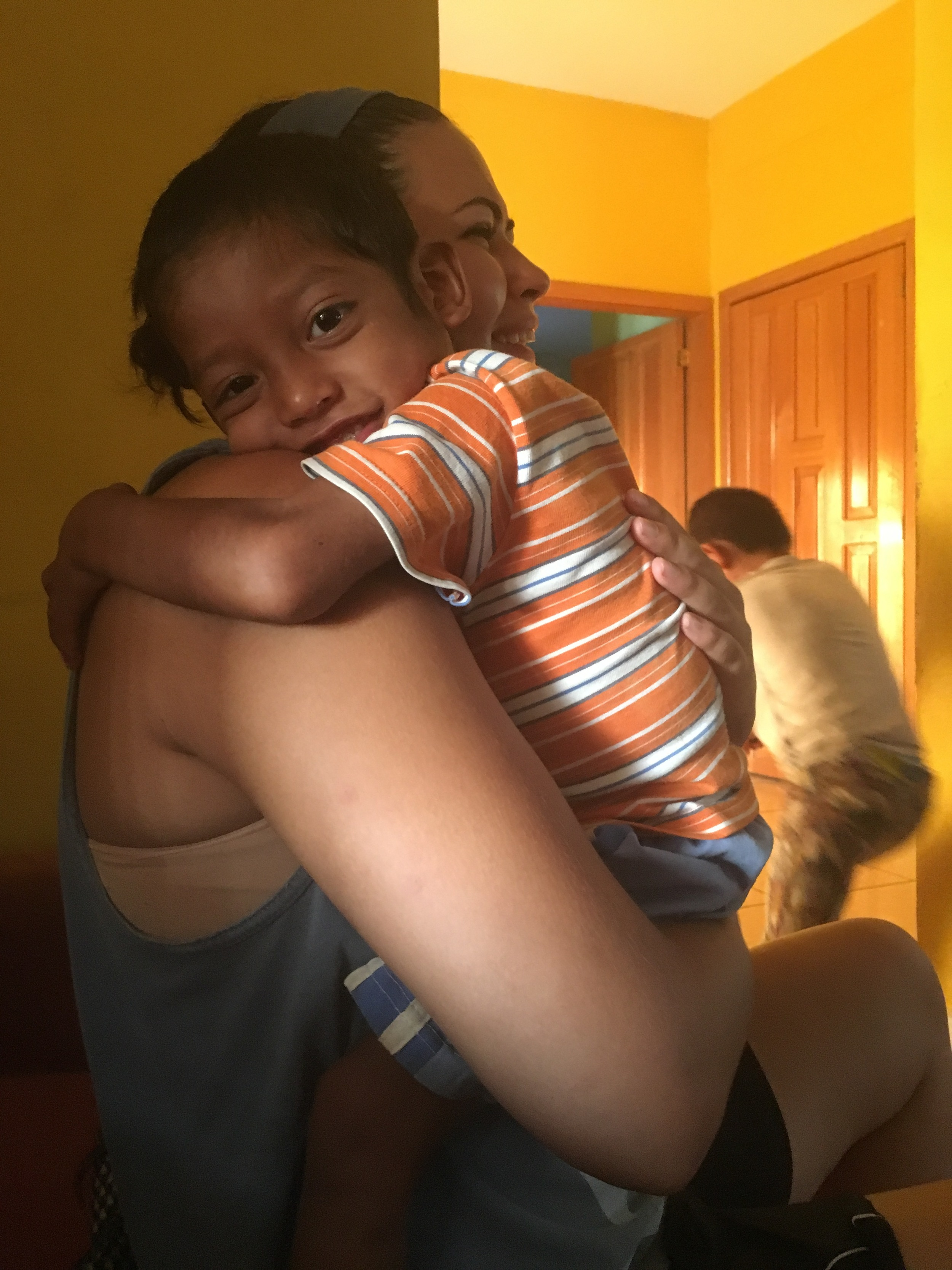 Miguelito gives the best hugs!