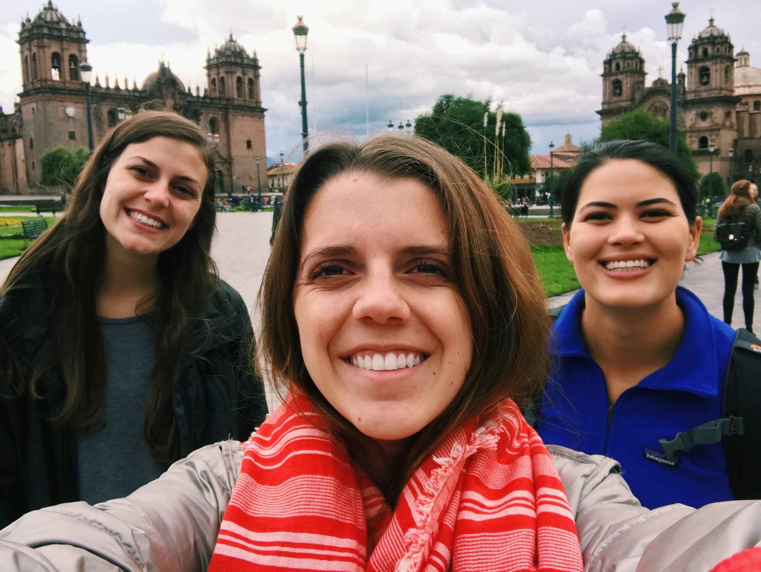 Samantha, Reagan, and I in Cusco.