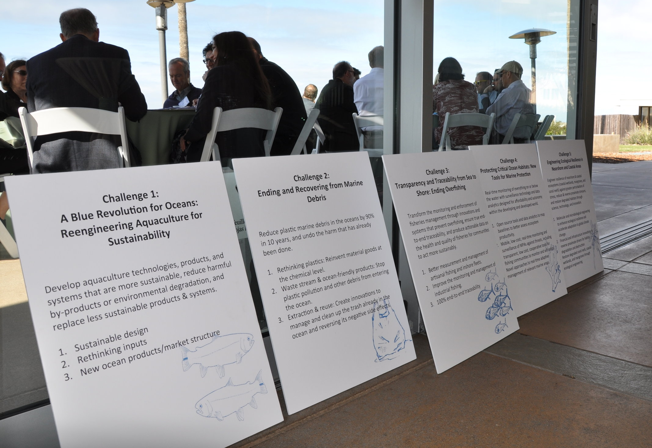 Challenge statements at the Oceans Big Think, November 2015.