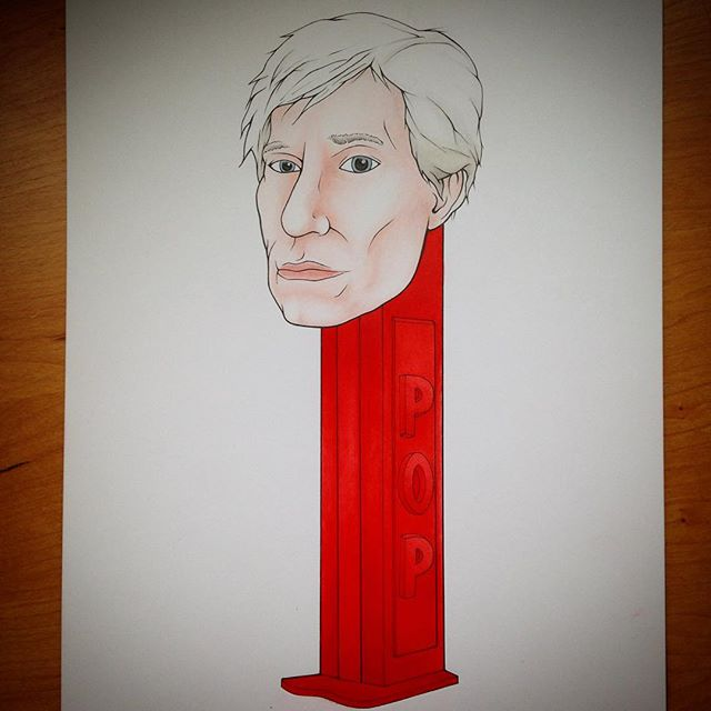 The Andy Warhol Pez Dispenser #popart #andywarhol #pez #liquidacrylic #humansoup #rycbrown