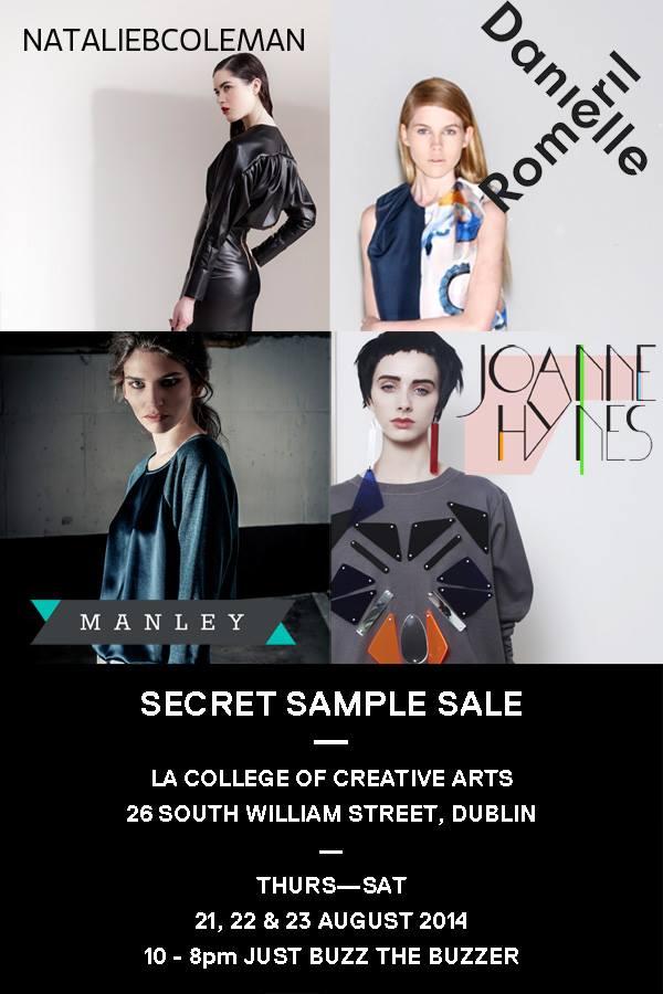 Irish Designer Sample sale