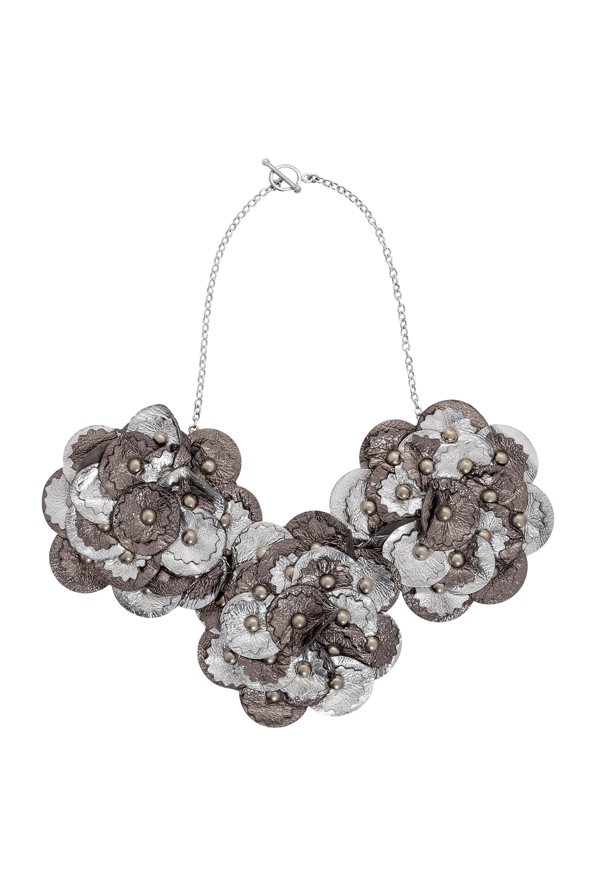 Sian Metallic Necklace /// Silver
