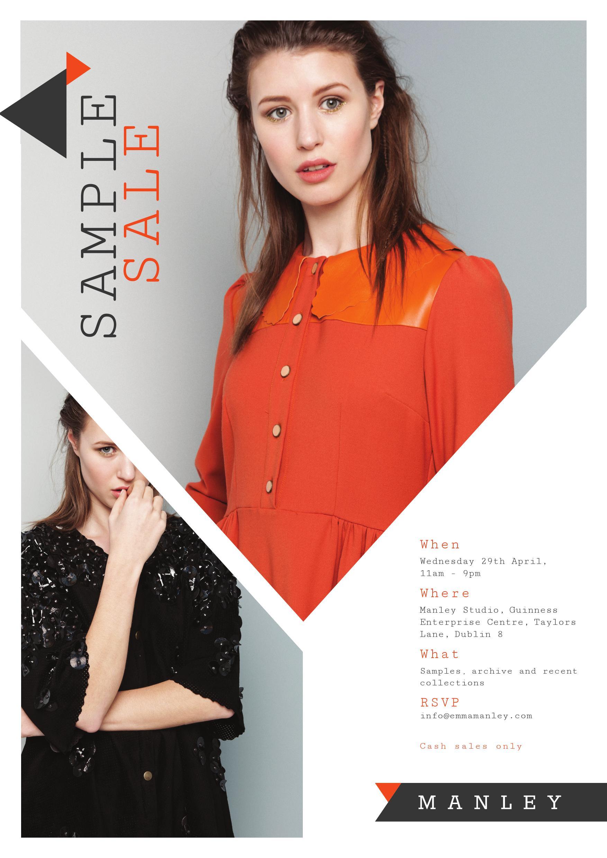 Manley Irish Designer Sample Sale