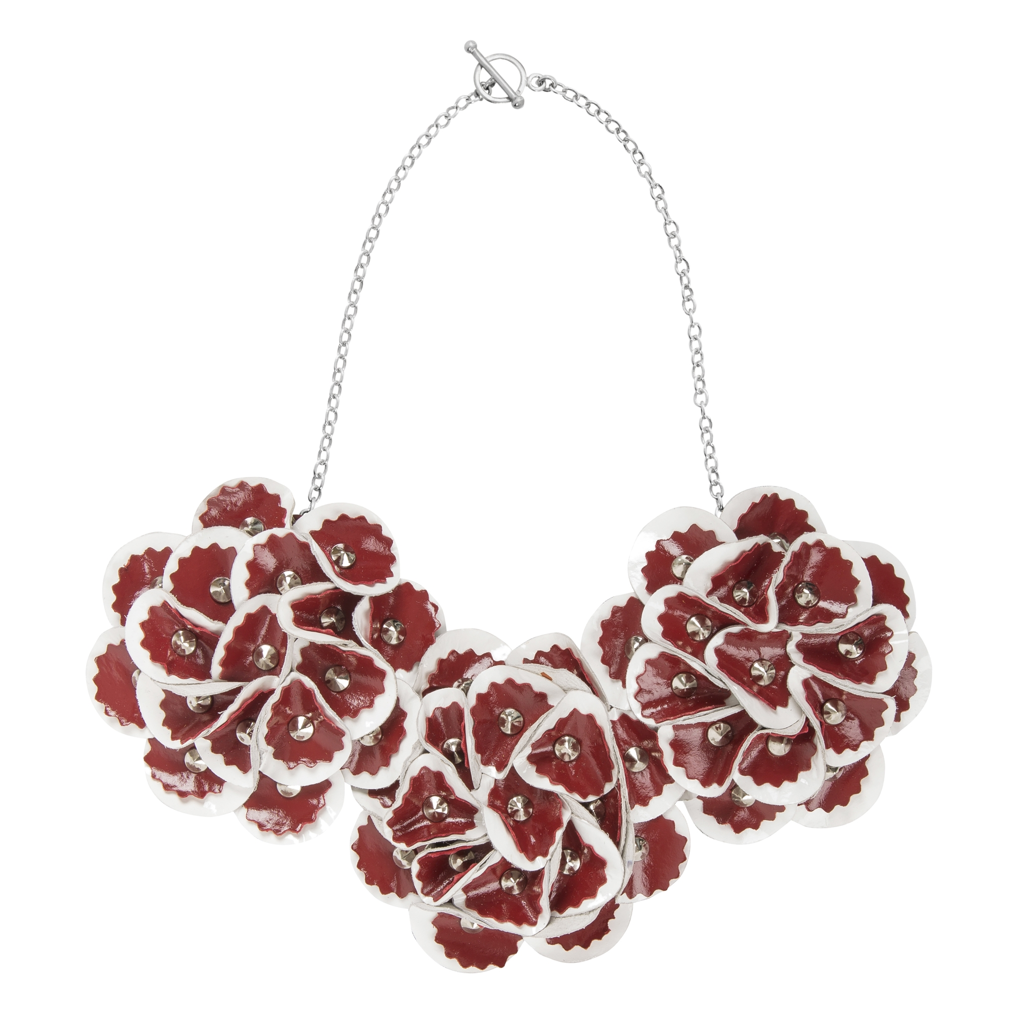 Elsie Necklace /// Red on White