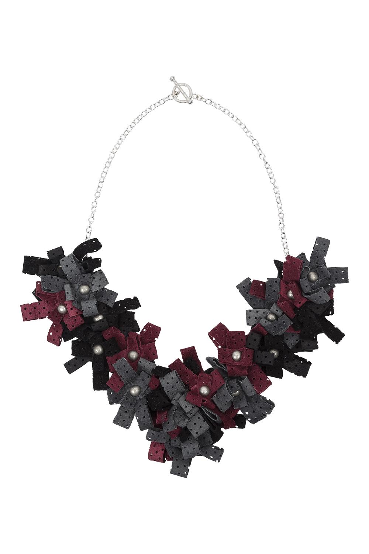 Lexi Necklace /// Black, grey, wine