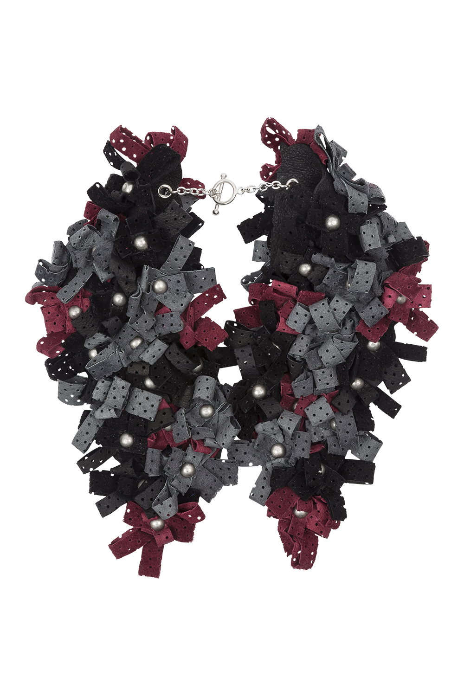 Carly Collar /// Black, grey, wine