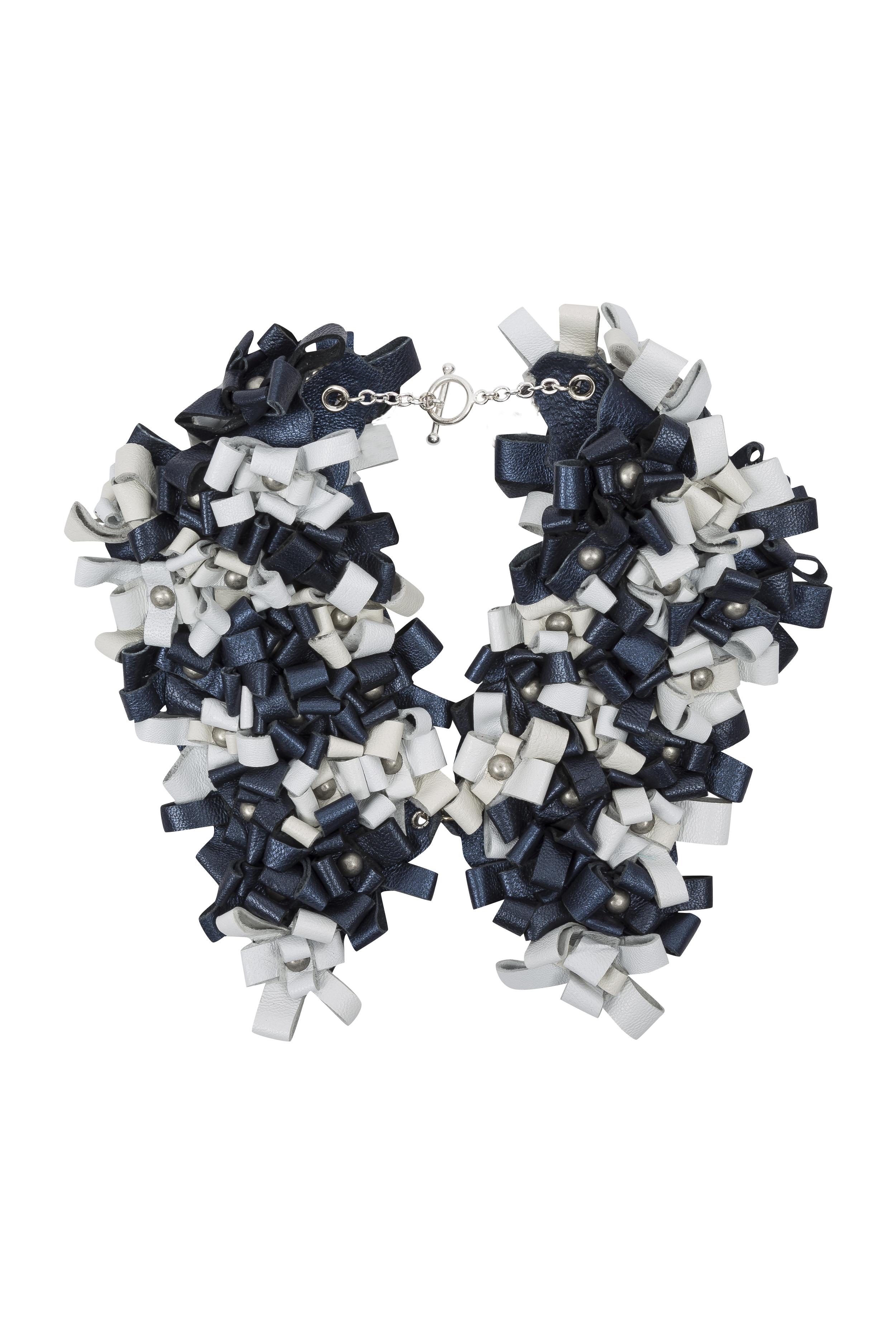 Cara Collar /// Petrol & White