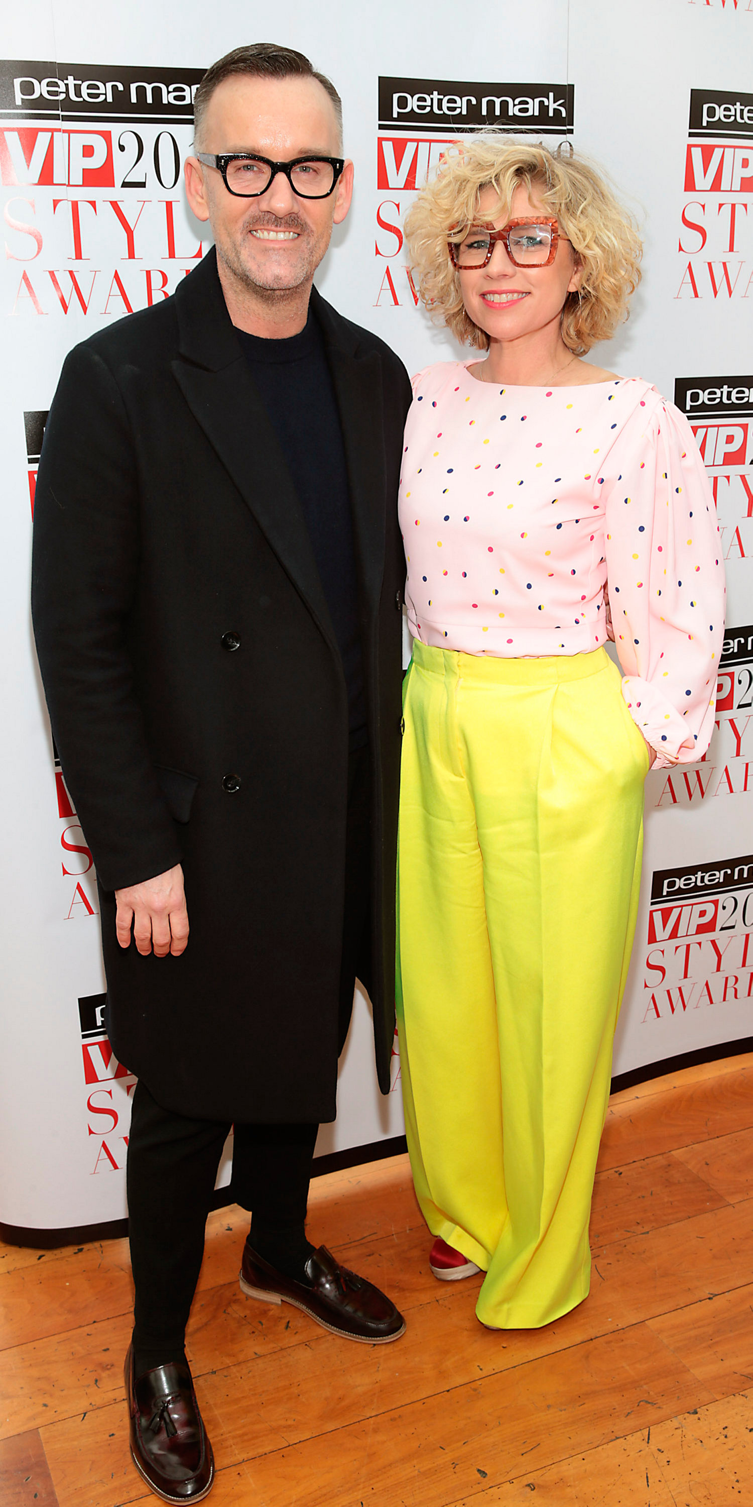 Brendan Courtney and Sonya Lennon  pictured when the  nominees and host for this year�s Peter Mark VIP Style Awards were revealed at an exclusive launch this morning in the Marker Hotel Pic Brian McEvoy No Repro fee for one